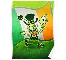 Euphoric Leprechaun Celebrating St Patrick's Day Poster