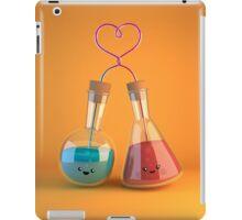 cute chemistry - flasks in love iPad Case/Skin
