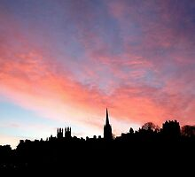 Sunrise over the Royal Mile,  Edinburgh.  by LBMcNicoll