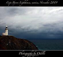 Cape Byron Light at sunrise, Nov 2009 by Odille Esmonde-Morgan