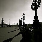 Paris bridge over the Seine b & w by graceloves