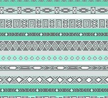 Cool Mint TIffany Turquoise Aztec Pattern by RexLambo