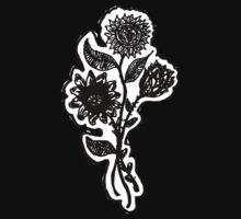 Dark Flower Tee Shirt by Red Gold