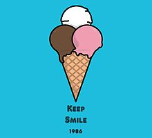 Cute Colorful Ice-Cream Cartoon by thejoyker1986