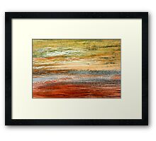 Morning Glow - Oil Pastel Framed Print