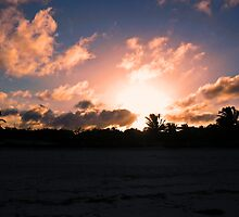 Sunset over Cayo Coco by Rebekah Ormstrup