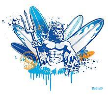 poseidon surfer 4  Photographic Print