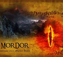 Greetings from Mount Doom by derekTheLair