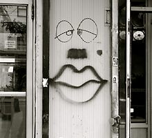 Smiley Face meet Forlorn Face by Kat O'Neill