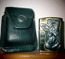 Old worn zippo lighter and  sheath bag v by Sasko97