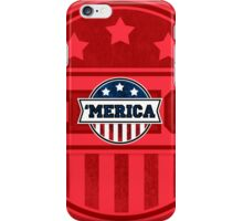 'MERICA T-Shirt. America. Jesus. Freedom. - The Campaign iPhone Case/Skin