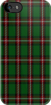 00509 Bacon, Green Tartan Fabric Print Iphone Case by Detnecs2013