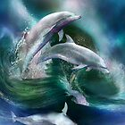 Dance Of The Dolphins by Carol  Cavalaris