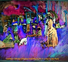 AnOther OReilly ORiginal Painting Half Pint & Mr O A day in the Park by Timothy C O'Reilly