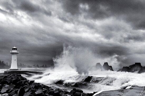 Wild surf by Geraldine Lefoe