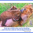 Brown Bear and Cubs by jkgiarratano