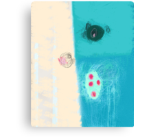 Take a blue breath Canvas Print