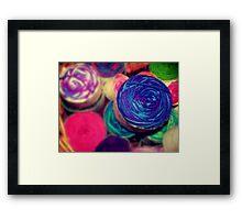 Bright Balls of Wool Framed Print