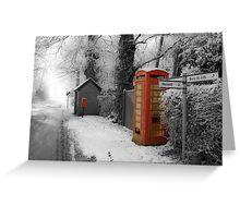 Red Telephone Box,Rougham,Suffolk,UK Greeting Card