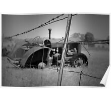 Fenced In Tractor Poster