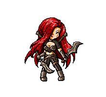 Katarina, The Pixel Blade Photographic Print