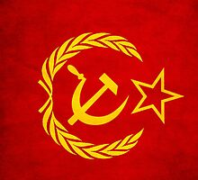 Iphone Ipod hammer and sickle red case, comunism by Sasko97