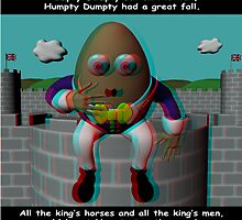 Humpty Dumpty nursery rhyme - anaglyph 3d by TheDigitalWoods