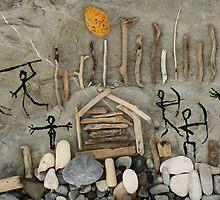 primitive art. things at hand by Nikolay Semyonov