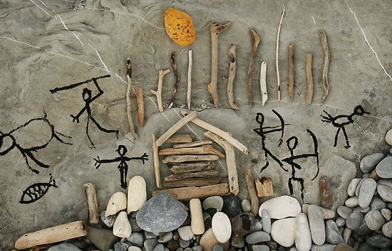 primitive art. things at hand by Nikolay Semyonov