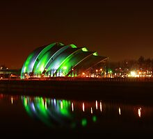 Glasgow Armadillo in Green Light by Maria Gaellman