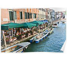 Ristorante - Canal - Venecia Poster