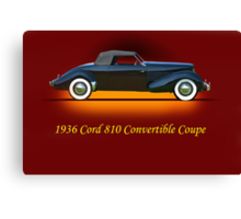 1936 Cord 810 Convertible w/ID Canvas Print