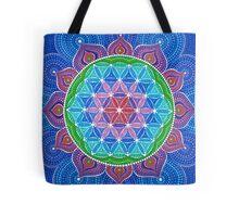Lotus Flower of Life Tote Bag