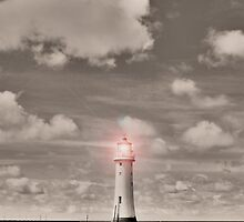 Sepia Surreal Lighthouse by DavidWHughes