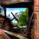 The Internal Side old Truck  Boorowa NSW  Australia  by Kym Bradley