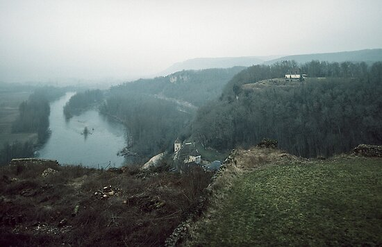 Dordogne River valley from Chateau de Beynac 198402270009 by Fred Mitchell