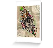 Deletion B4 Dishonor Greeting Card