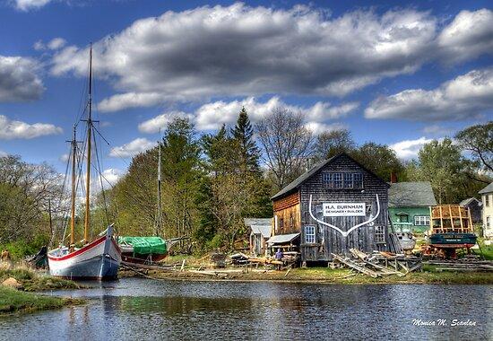 H.A. Burnham Boatyard by Monica M. Scanlan