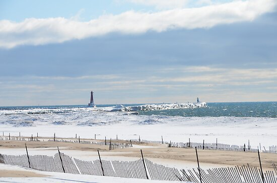 Muskegon Harbor Lightstation by BarbL
