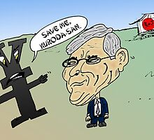 Monetary wonk caricature of Haruhiko Kuroda by Binary-Options