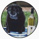 Pug and wine by Thetomfrancis