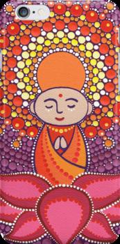 Jizo Meditating upon a Ruby Lotus by Elspeth McLean