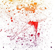 Ballet Dancer rainbow 1 by Sarah Langford