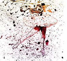 Ballet Dancer Rainbow 3 by Sarah Langford