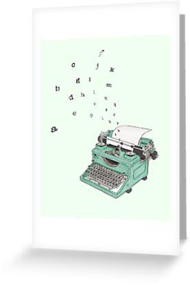 Little Green Typewriter by Anna Dimmock
