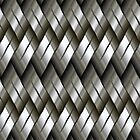 Silver Metal Pattern iPad Case by AdrianeJ