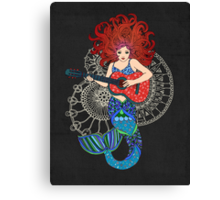 Musical Mermaid Canvas Print