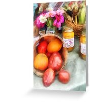 Tomatoes and Peaches Greeting Card