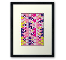 Triangles and Circles Framed Print