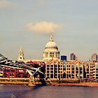 St. Paul's Cathedral, London, seen from South bank of River Thames by NicholaNR